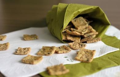 Tofu krekry s bylinkami