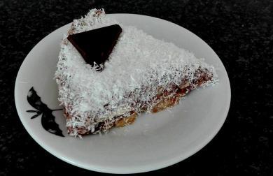 Banánovo-kokosový RAW dort