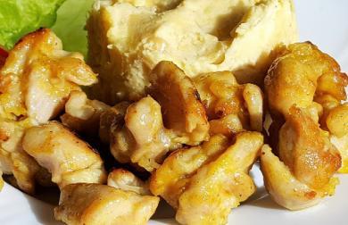 Pikantní křupavé kuřecí kousky s kurkumou