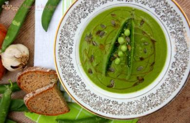 Hráškovo-špenátová krémová polévka (od 8 měsíců)