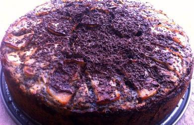 Pohankovo-makový dort s jablky
