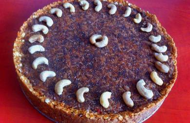 Jablečný nepečený dortík