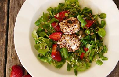 Polníčkový salát s jahodou - bez lepku, vajec