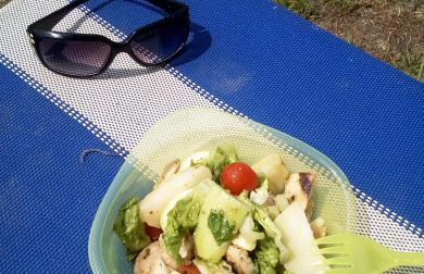 Letní salát k vodě