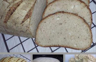Low carb sýrový chleba