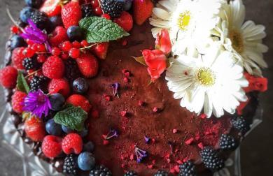 Narozeninový čokoládový dort LOW CARB