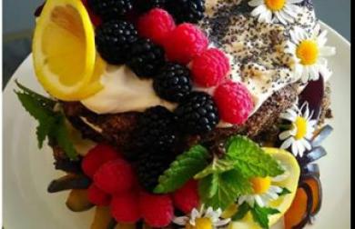 Makový narozeninový dort dohromady asi z 5 surovin!!