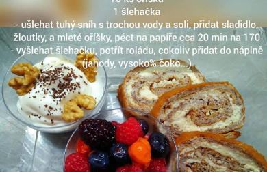 Ořechová roláda - nízkosacharidová