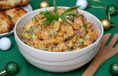 Salát z pečené dýně s estragonem a slaninou - nízkosacharidový