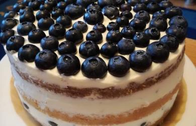 Nahý dort s borůvkami - low carb