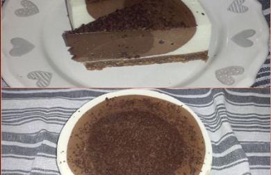 TŘÍBAREVNÝ - nízkosacharidový dort