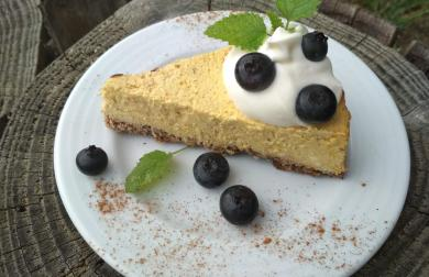 Dýňový low carb cheesecake - koláč