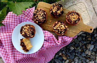 Čokoládovo-arašídové cupcakes
