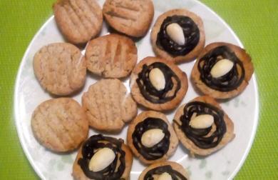 Sušenky ořechovo-skořicové, nízkosacharidové