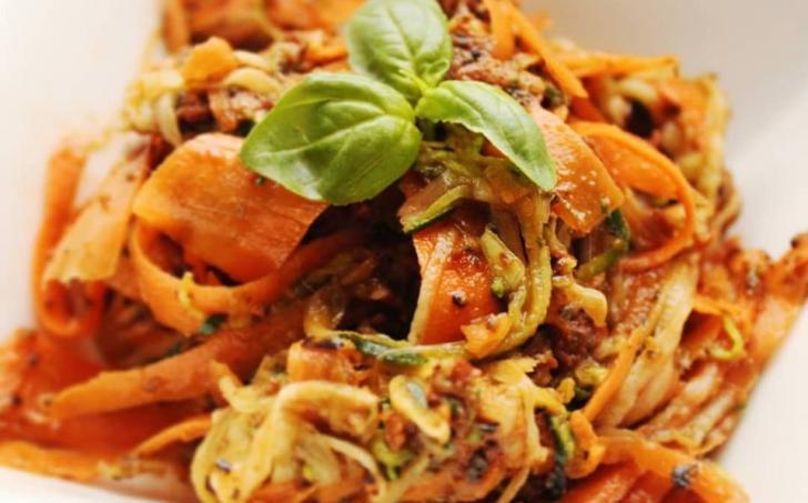 Zeleninkové raw špagetky