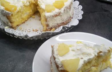 Ananasový dort - bez mouky