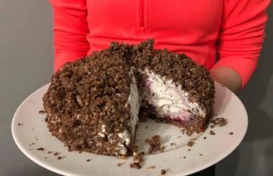 Krtkův dort - nízkosacharidový