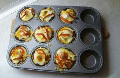 Slané muffiny - nízkosacharidové