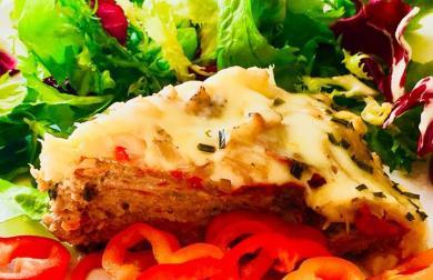 Zelenino-masový koláč - nízkosacharidový