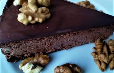 Čokoládový cheesecake - dort - nízkosacharidový, LC