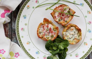 Slané jarní koláčky s lehkou náplní - bez lepku, laktózy a vajec