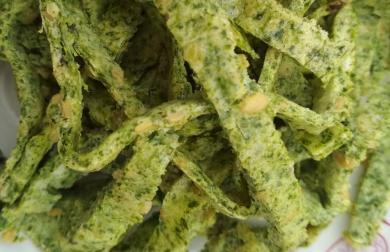 Špenátové low carb těstoviny  - grusetky bez psyllia a mouky