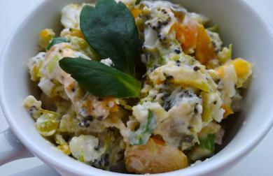 Brokolicový salát s vajíčkem