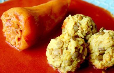 Plnená paprika po indicky