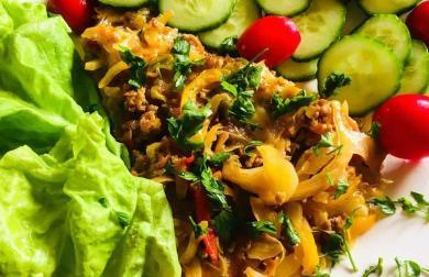 Zapečené mleté maso se zeleninou a mozzarellou - LC