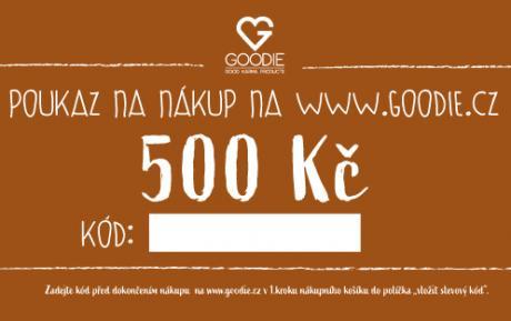 Dárkový poukaz na 500 Kč do eshopu Goodie