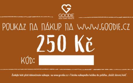 Dárkový poukaz na 250 Kč do eshopu Goodie