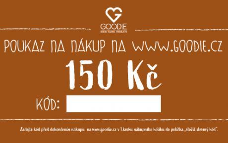 Dárkový poukaz na 150 Kč do eshopu Goodie
