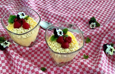 Vanilkový žloutkový pudink