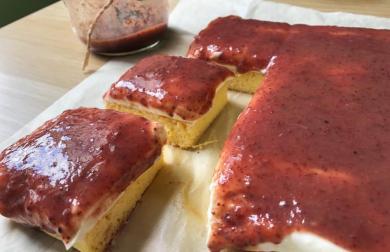 Letní koláč s tvarohem a ovocnou zavařeninou - LC
