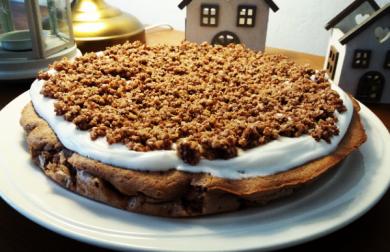 Bezlepkový koláč s tvarohem a mandlovou drobenkou