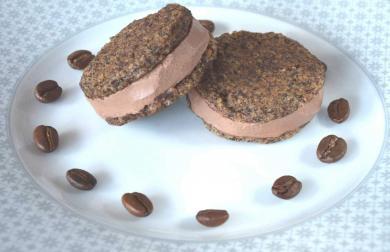 Kávové slepované sušenky